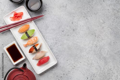 Recess Fitting Sushi bar Japanese sushi set