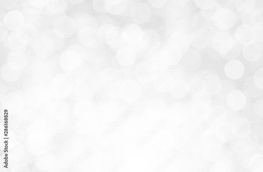 Fototapety, obrazy: Gray Silver light on bokeh abstract background.