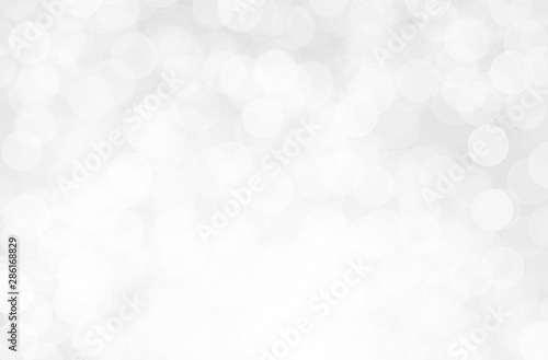 Canvastavla  Gray Silver light on bokeh abstract background.