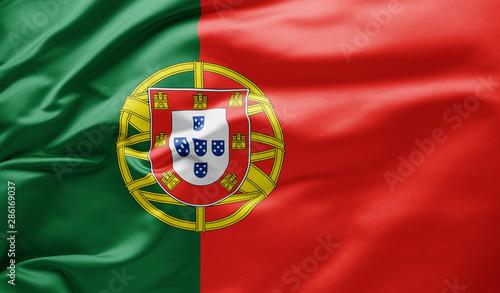 Fototapeta  Waving national flag of Portugal