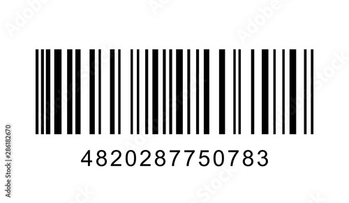 Pinturas sobre lienzo  Barcode on white background. Vector illustration