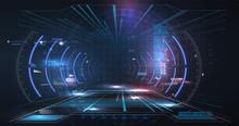 Virtual Reality. Futuristic VR...