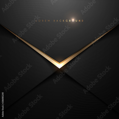 Cuadros en Lienzo Black and gold envelop background