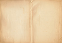 Open Blank Pages From A Hymnal Book From 1946