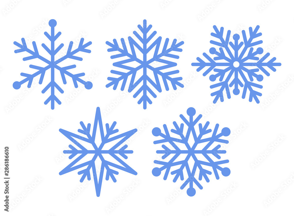 Fototapeta Set of snowflakes