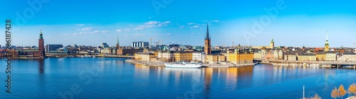 Gamla stan in Stockholm viewed from Sodermalm island, Sweden Canvas Print