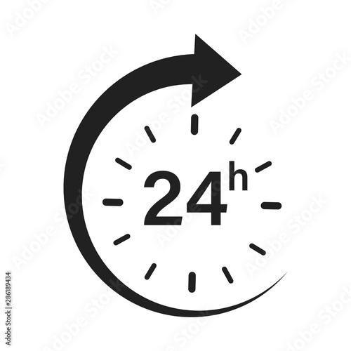 24 hour circle arrow servise icon vector illustration Fototapeta