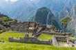 Machu Picchu, Peru - 05/21/2019: Mortar District at the Inca site of Machu Picchu in Peru.