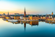 Sunset View Of Gamla Stan In S...