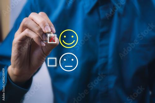 Fotografía  Conceptual the customer responded to the survey