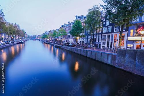 Amsterdam Netherlands Holland canalside dutch architecture Canvas Print