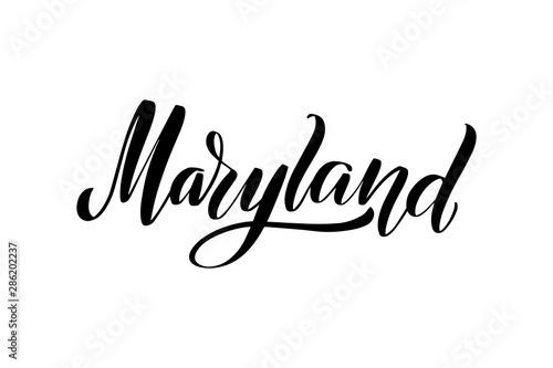 Fotografie, Obraz  brush lettering Maryland