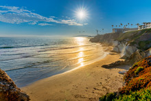 Sun In Afternoon Over Ocean An...