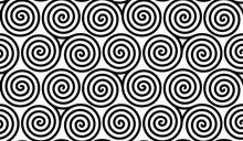 Spiral Celtic Triskels Vector Seamless Pattern Tile
