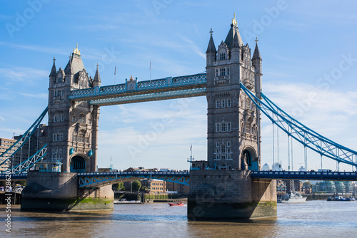 Tower Bridge London blue sky