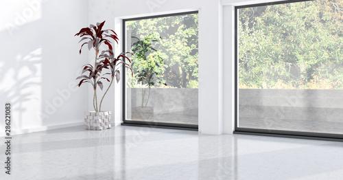 large luxury modern bright interiors room illustration 3D rendering Canvas-taulu