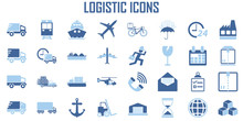 Logistic Transport Shipping Ic...