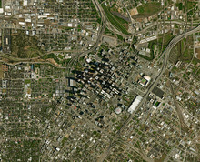 High Resolution Satellite Image Of Houston, USA (Isolated Imagery Of USA. Elements Of This Image Furnished By NASA)