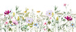 Leinwandbild Motiv Watercolor floral pattern