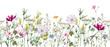 canvas print picture - Watercolor floral pattern