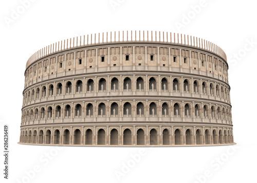 Valokuvatapetti Roman Colosseum Isolated