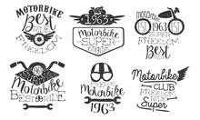 Motorbike Club Retro Labels Se...