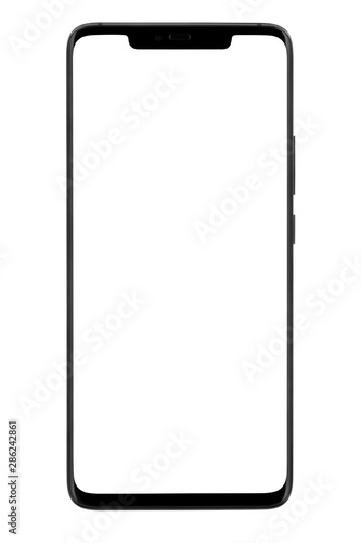 Smart phone with blank screen isolated on white background, clipping path Wallpaper Mural