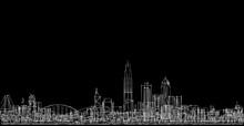 Modern City Panorama 3d Illust...
