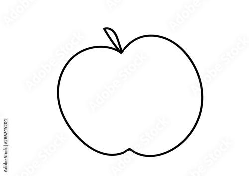 Fototapeta jabłko, kolorowanka dla dzieci obraz
