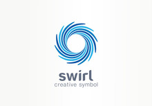 Water Whirlpool, Aqua, Creative Symbol Concept. Blue Swirl, Clear Spiral Mix, Spa Abstract Business Logo Idea. Clean Sea, Ocean, Pool Icon. Corporate Identity Logotype, Company Graphic Design Tamplate