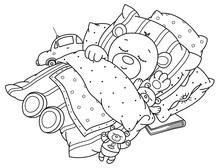 Vector Cute, Sleeping  Baby Be...