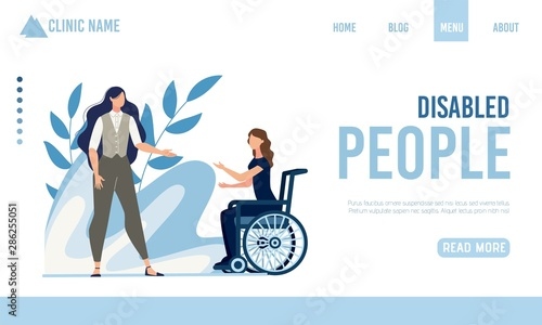 Photo  Landing Page Offering Help for Disabled People