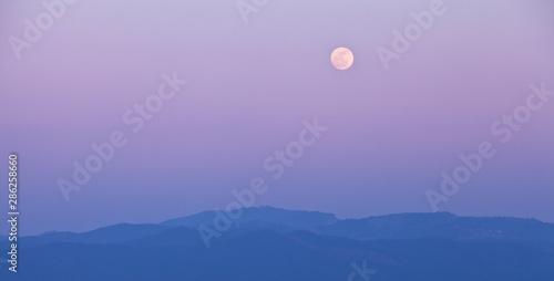 Canvastavla Salida de luna