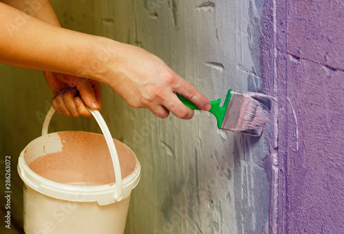 Photo Decorator primer to Prime the walls before applying the plaster, repairs to the