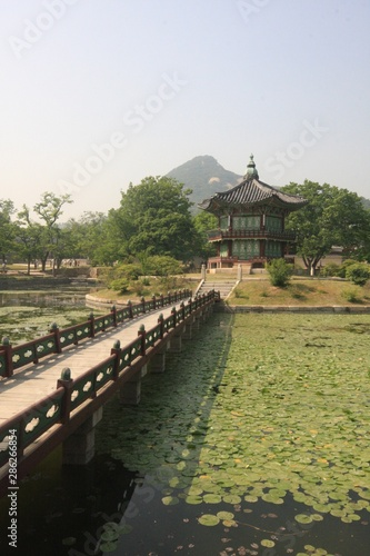 Seoul city views, streets and temples in South Korea Canvas Print