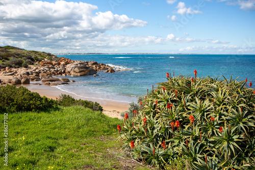 Photo  The beautiful Crockery bay beach at Port Elliot South Australia on 27th August 2