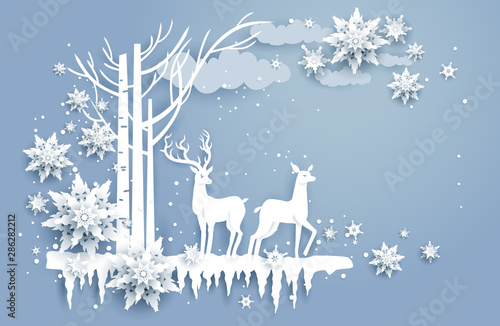 Fotobehang - Natural winter design