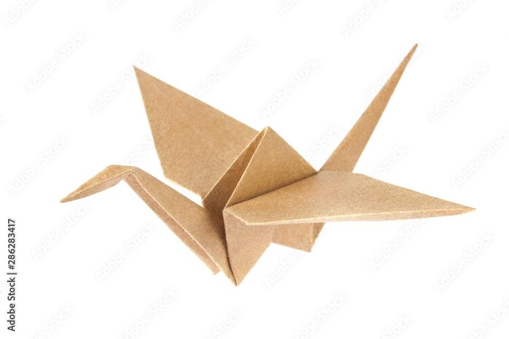 Fototapeta Shadoof origami of crafting paper.