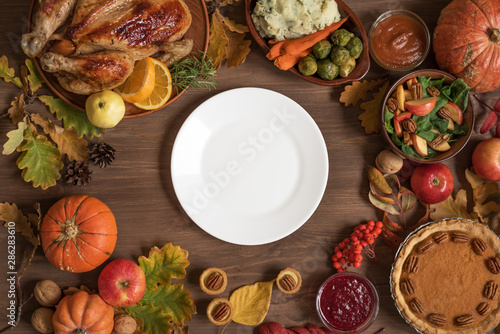 Fotografía Thanksgiving dinner background