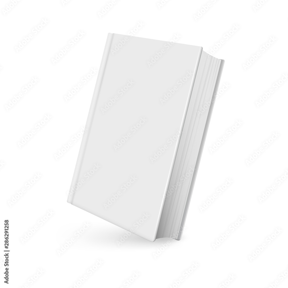 Fototapety, obrazy: Book mockup realistic with shadow on white background