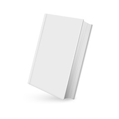 Book mockup realistic with shadow on white background