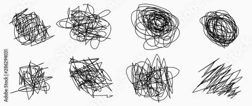 Pinturas sobre lienzo  Pencil vector scratch .