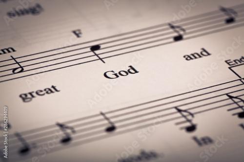 Hymnal. Slika na platnu
