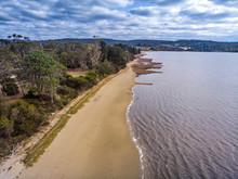 Coastline On Tasmania From Bea...