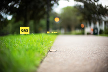 Gas Line Stake Flag Buried Und...