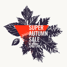 Super Autumn Sale. Abstract Ba...