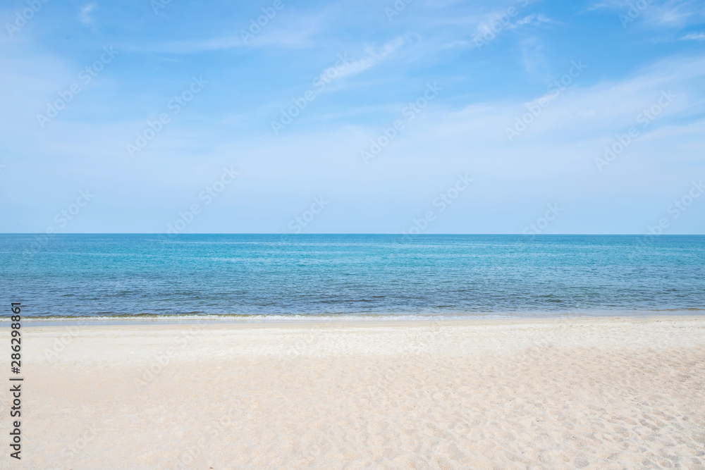 Fototapeta Blue sea waves soft surface, summer beach, abstract background pattern