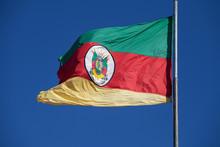 Rio Grande Do Sul State Flag In The Wind