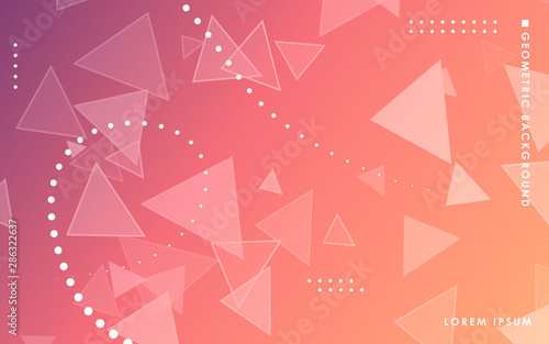 Fotografía Purple gradient abstract triangle geometric background