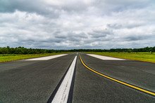 Runway And Clouds
